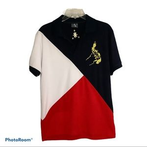 Vintage Philippines Flag Polo Shirt youth size XL